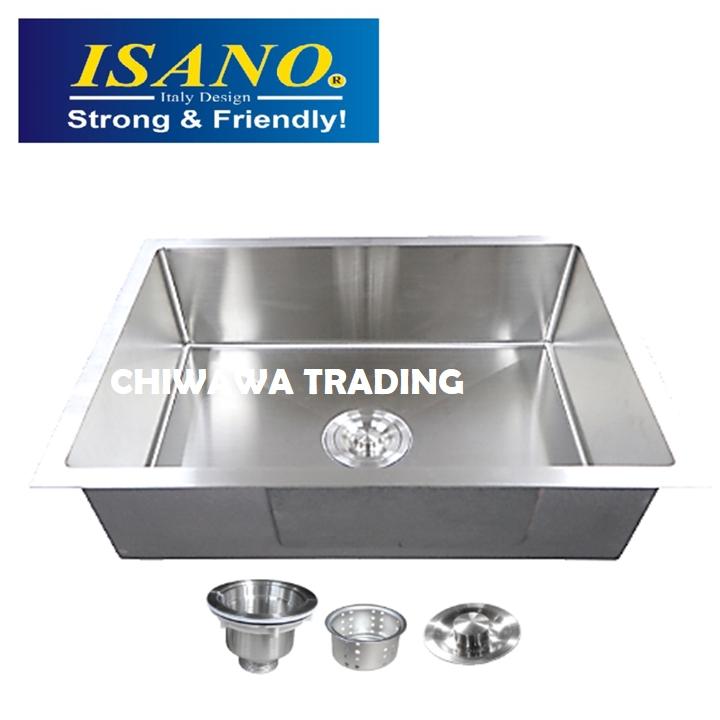 ISANO B6045 Stainless Steel Kitchen Sink Bowl Basin Drainer