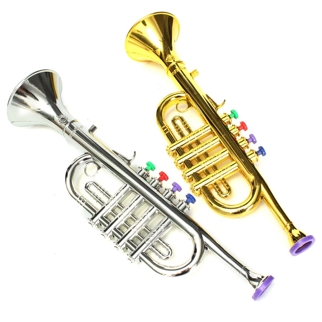 Alto Horns Emulational Horn Trumpet Musical Instrument Toy Kids Gift Firm In Structure