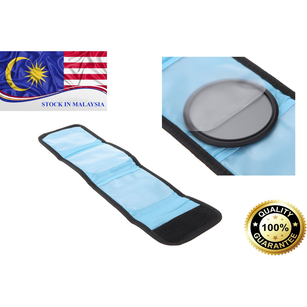 Fotga Lens Filter Wallet Case 3 pockets For Filter Size 25mm - 82mm (Ready Stock In Malaysia)