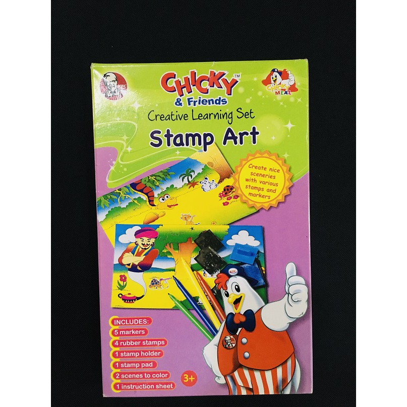 Chicky & Friends, Creative Learning Set Stamp Art