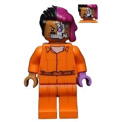 LEGO DC Super Heroes : Two-Face (Orange Arkham Suit) Minifigure