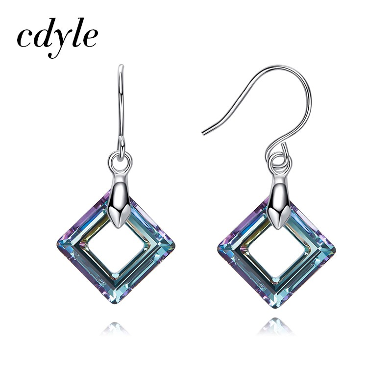 8cd735c517 Cdyle Crystals Square Luxury Dangle Women Drop Earrings