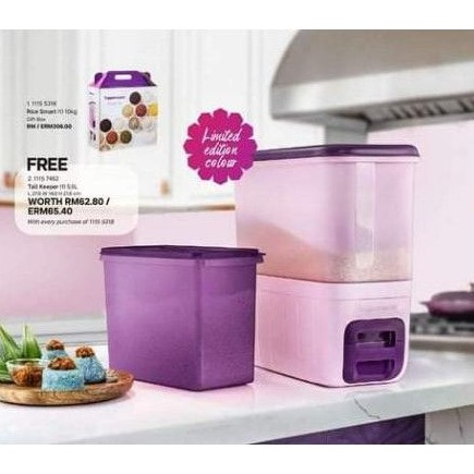 Lowest Price READY STOCK ( FREE Tall Keeper & Extra Gift )Tupperware Rice Smart Ricesmart 10KG