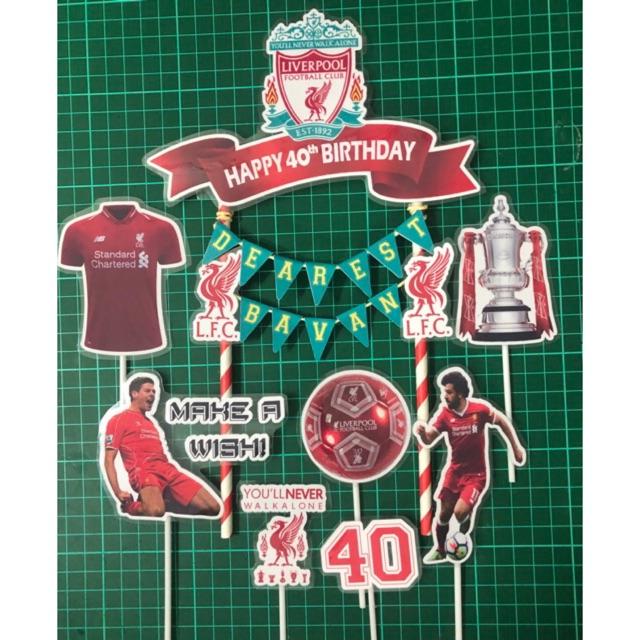 Football Club Liverpool Man U Arsenal Cake Topper Set 7pcs 1big 6smalls Shopee Malaysia