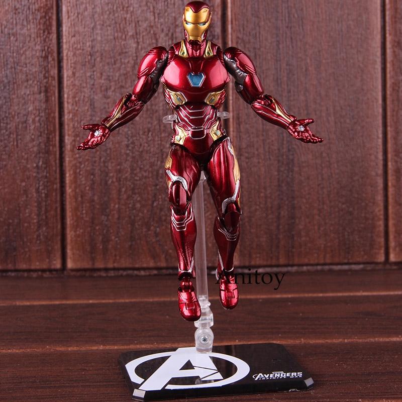 S H Figuarts SHF Iron Man MK50 & Tamashi Stage Marvel Avengers Action  Figure Toy