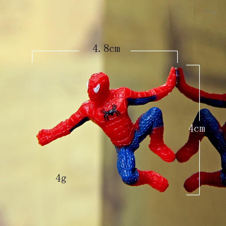6Pcs SpiderMan Figure set Kids Spider Man PVC Action Movie Figure Toys 4-5cm