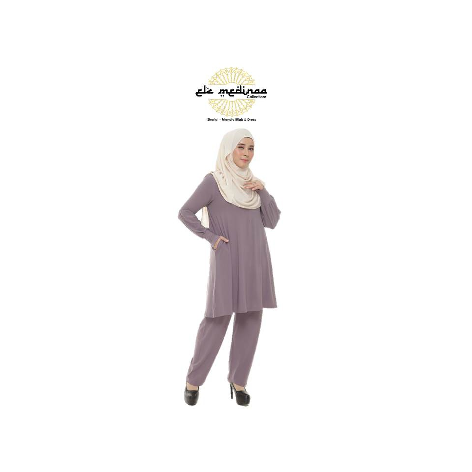 Blouse Suit Blouse Seluar Eryza Muslimah Moss Crepe (Ironless) Blaus