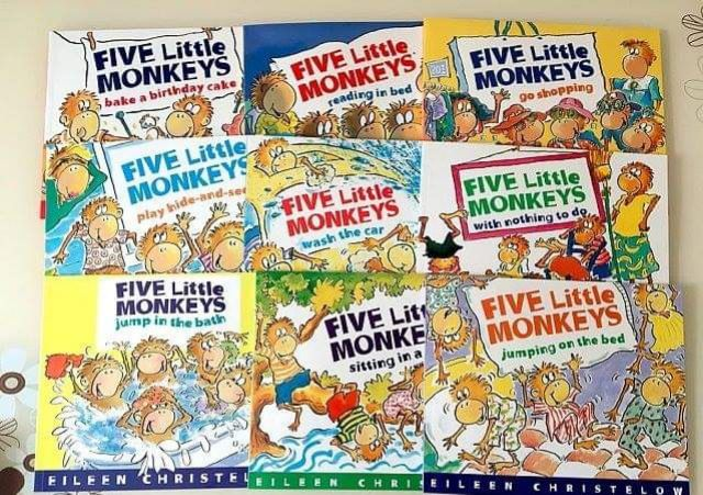 Cool Ready Stock Five Little Monkeys 9 Books Shopee Malaysia Funny Birthday Cards Online Inifofree Goldxyz