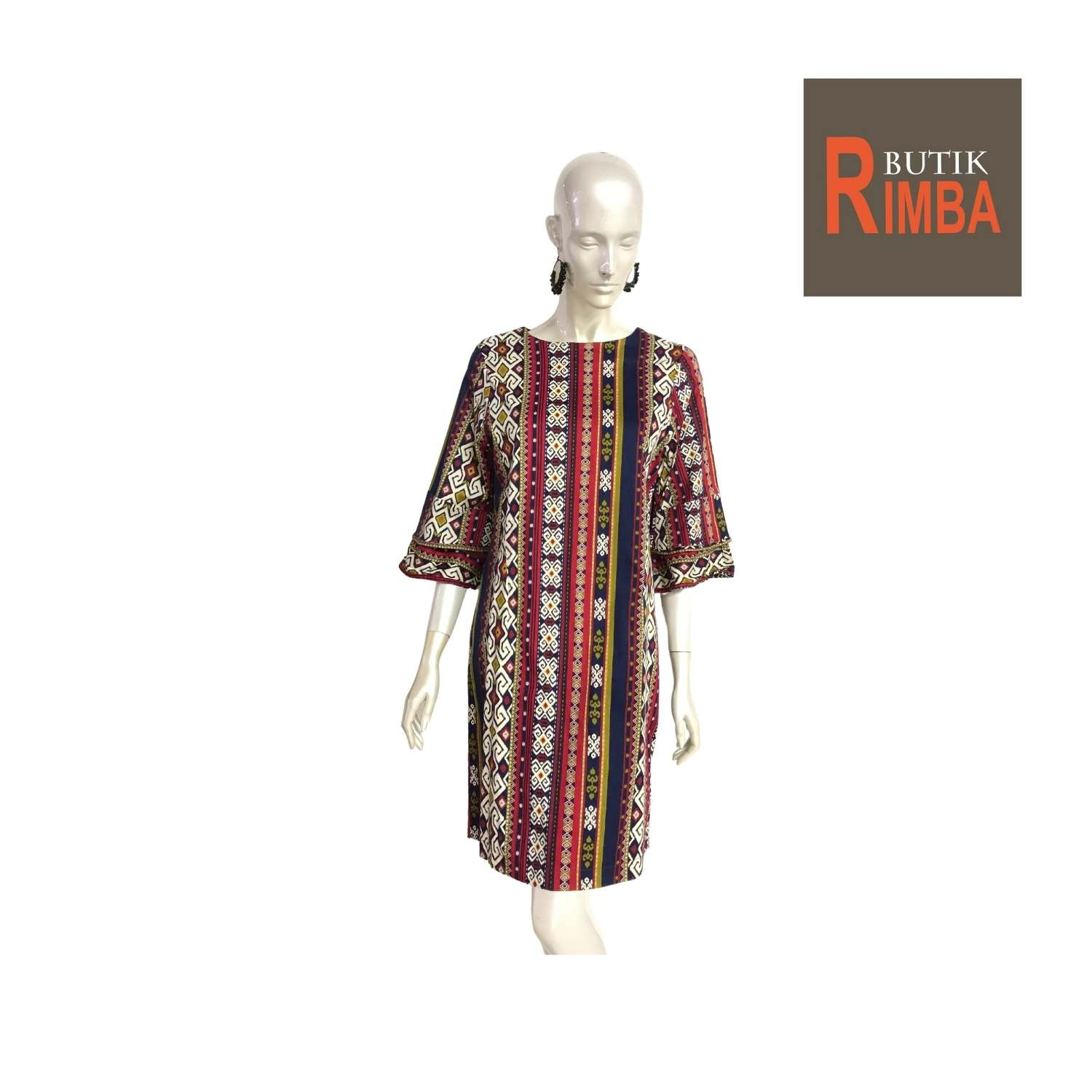MODERN DRESS BATIK COTTON STRETCHABLE KNEE LENGTH FREE SIZE FOR FASHIONABLE WOMEN IN MIND 07