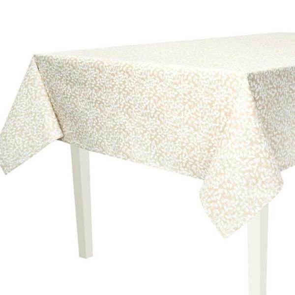 """Seed Coated Square Tablecloth. Anti Stain/Waterproof/Spill Proof. 140x140cm/55x55"""" Square. (Ecru)"""