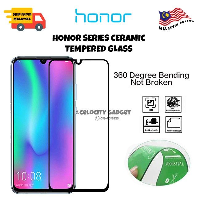 9D Ceramic Tempered Glass For Honor 20/8x/9x/Play