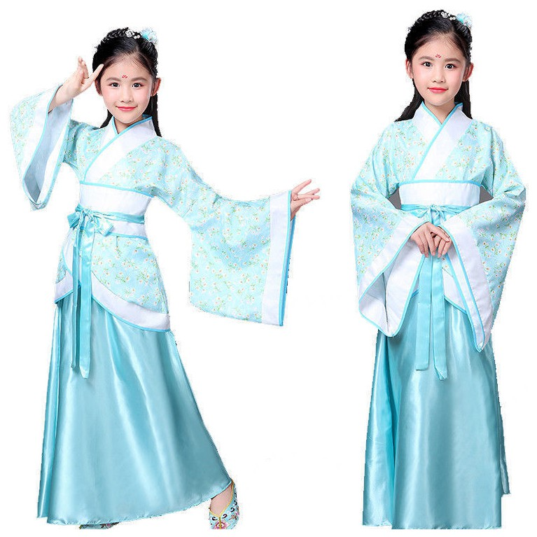 Ancient Costume Chinese Han Tang Kids Baby Girls Princess Party Dress Cosplay