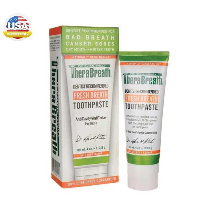 พร้อมส่ง_TheraBreath, Fresh Breath Toothpaste, Mild Mint Flavor, 4 oz (113