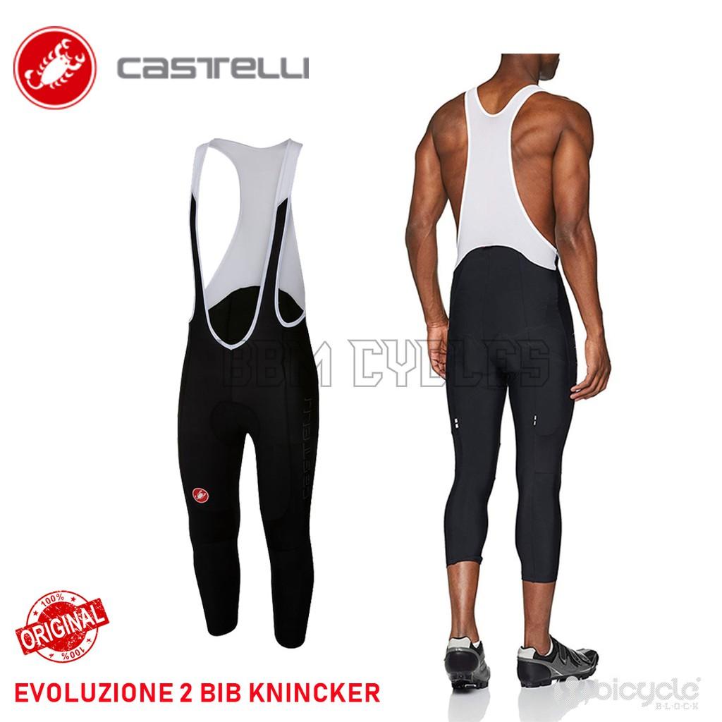 Castelli EVOLUZIONE 2 Bicycle Cycling Bib Knickers BLACK