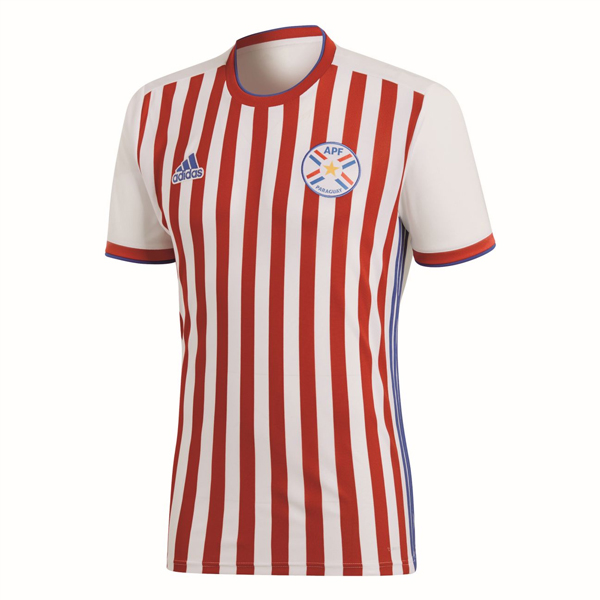 Paraguay Men Home World Cup 2018 Fans Issue Jersey