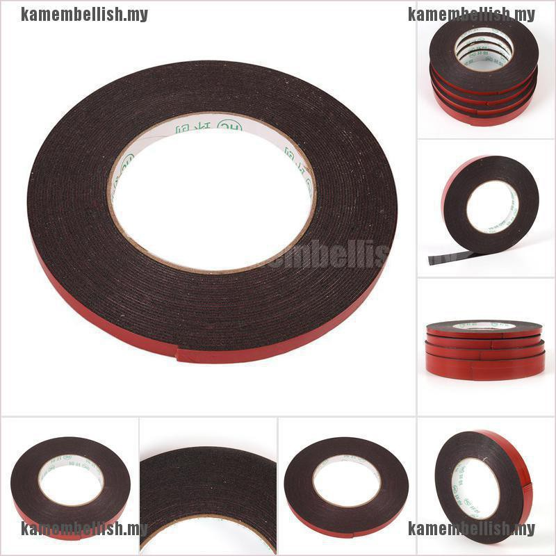10M Strong Permanent Double-Sided Adhesive Glue Tape Super Sticky With Red/'Liner