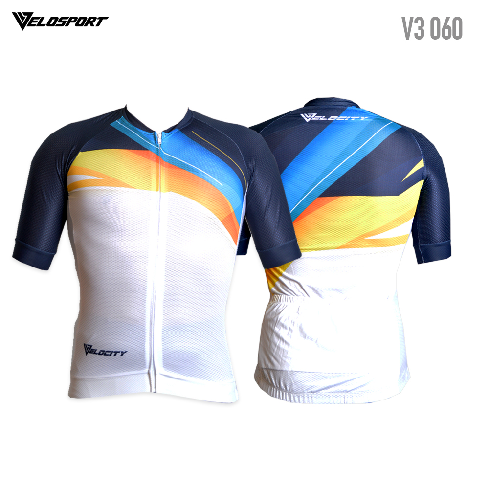 VELOCITY Premium Quality Cycling Jersey with Rubber Tape 4 Meterial Short Sleeve Jersey Roadbike Jersey