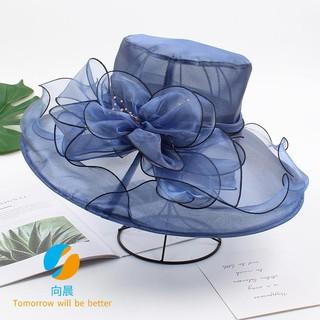 a1f97ed2a Organza summer lady big visor flower leisure wild sun hat outdoor sunscreen  fisherman hat | Shopee Malaysia