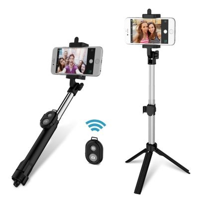 Selfie Stick Tripod  Monopod Remote for iOS iPhone Android Smart Phone (BLACK)