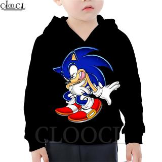 Cloocl Sonic The Hedgehog Japanese Anime Children S Hoodie 3d Printing Fashion Boy Little Hoodie Summer Casual Jacket Shopee Malaysia