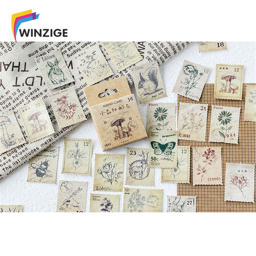 46Pcs Vintage Stickers Bullet Journal Diary Planner ...