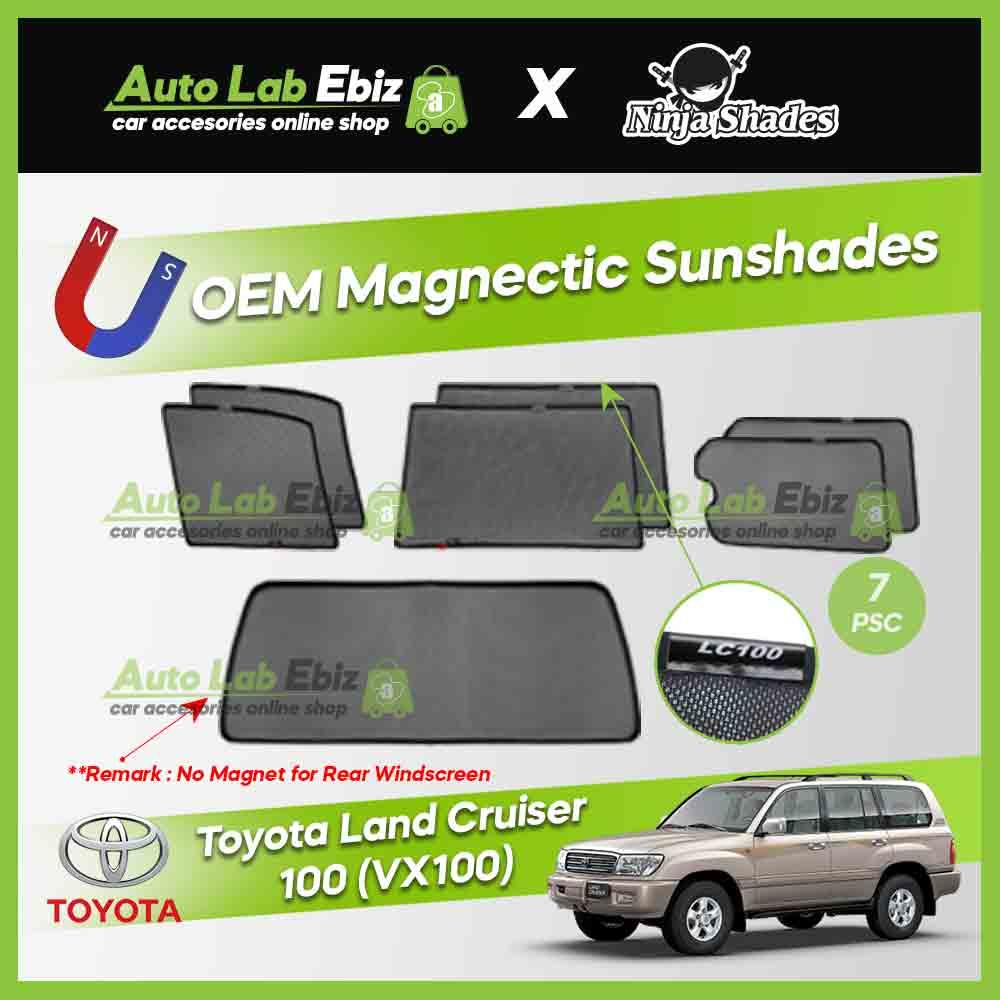 Toyota Land Cruiser LC100 VX100 Ninja Shades OEM Magnetic Sunshade (7pcs)