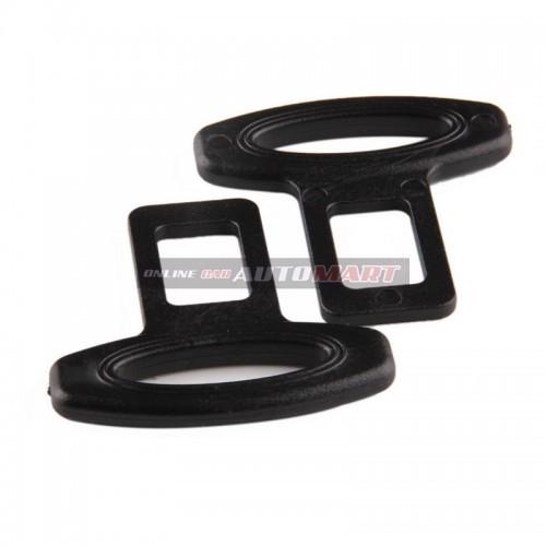 2PCS PLASTIC CAR SAFETY SEAT BELT BUCKLES BLACK