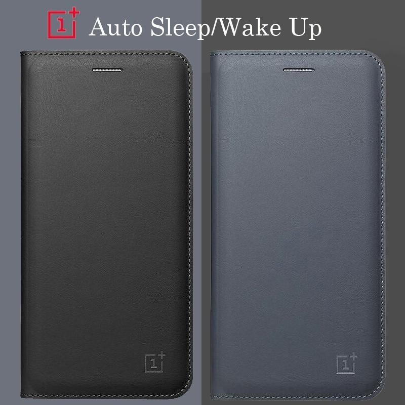 ac81bc82128 OnePlus 6 6T 5 5T 3 3T Original Smart Wake Up Sleep 1+ Flip PU Leather Cover