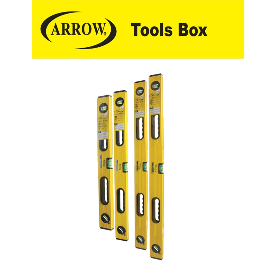 READY STOCK!!ARROW 12'' 18'' 24'' 30'' 36'' 42'' HEAVY DUTY SPIRIT LEVEL WITH MAGNET EASY USE SAFETY GOOD QUALITY MUDAH