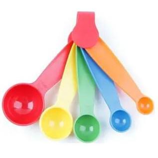 5pcs Colorful Kitchen Tool / Measuring Spoon / Measuring Cups / Baking Utensil Set /Sendok Takaran