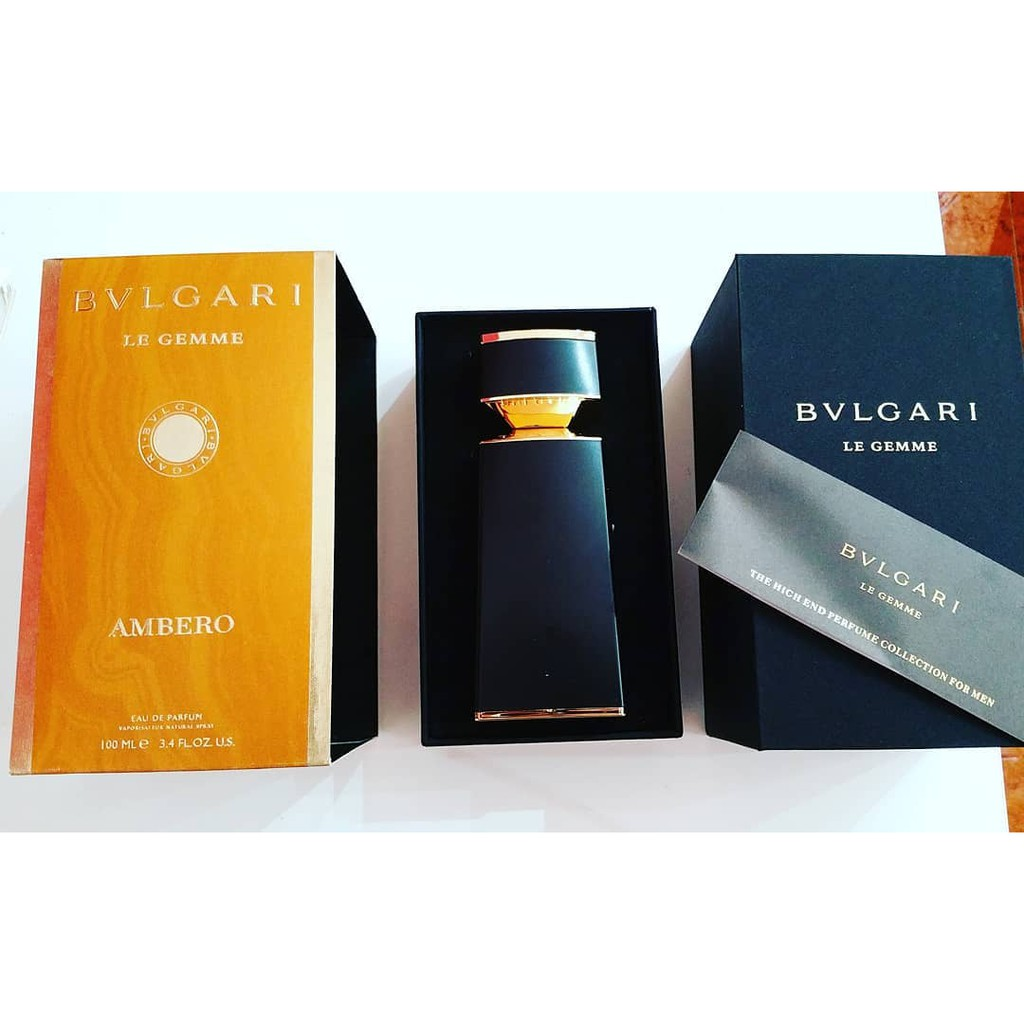 Bvlgari Le Gemme Ambero For Men 100ml Edp Shopee Malaysia