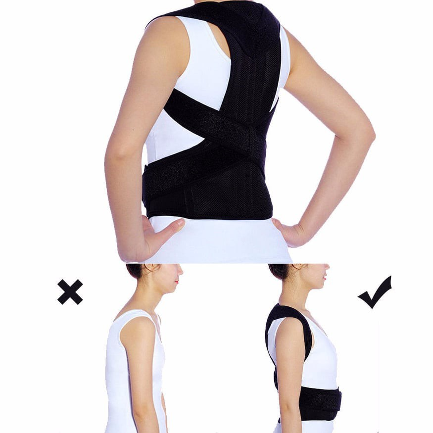 UNISEX Back Support Belt Posture Shoulder Correction Align Relieve Pain Lifting ( NY-48 )
