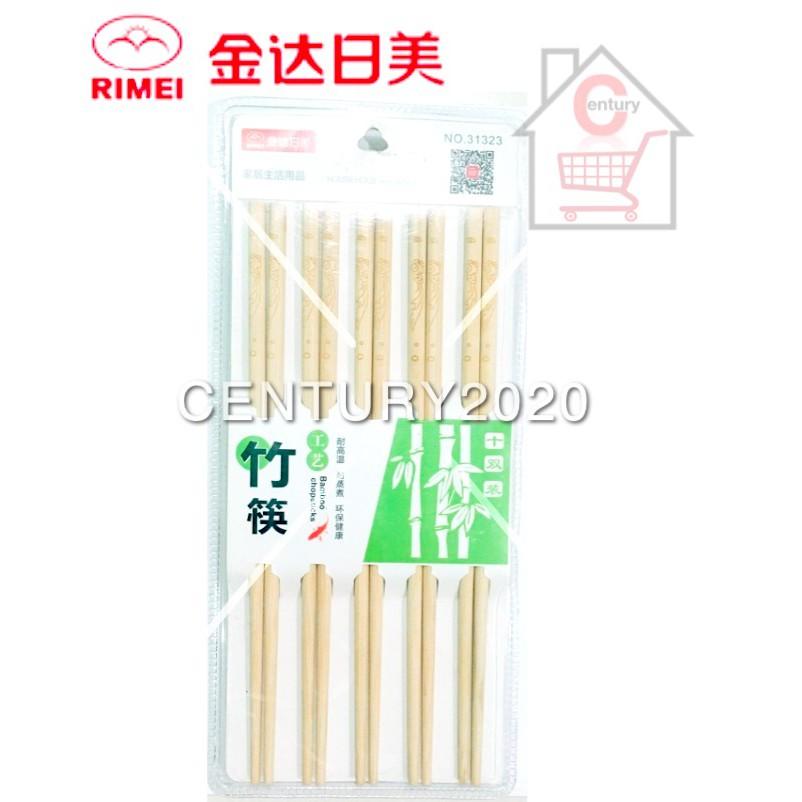 RIMEI Chopsticks Painted Printing Bamboo Chopstick Plain Printing 10 Pairs 31323