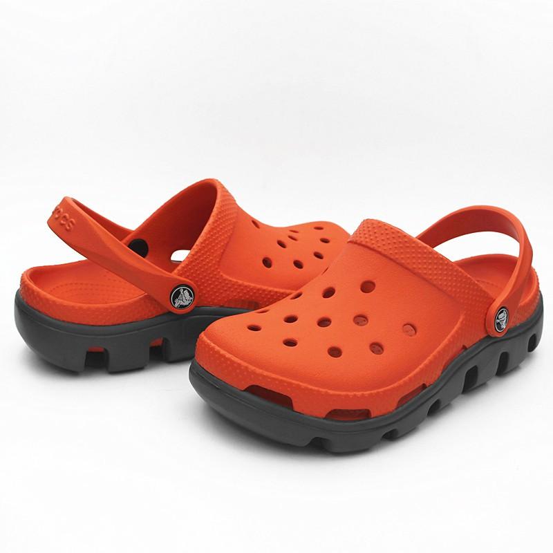 939bcb9cd38f Crocs Duet Sport Clog Unisex Beach Shoes [Orange version]