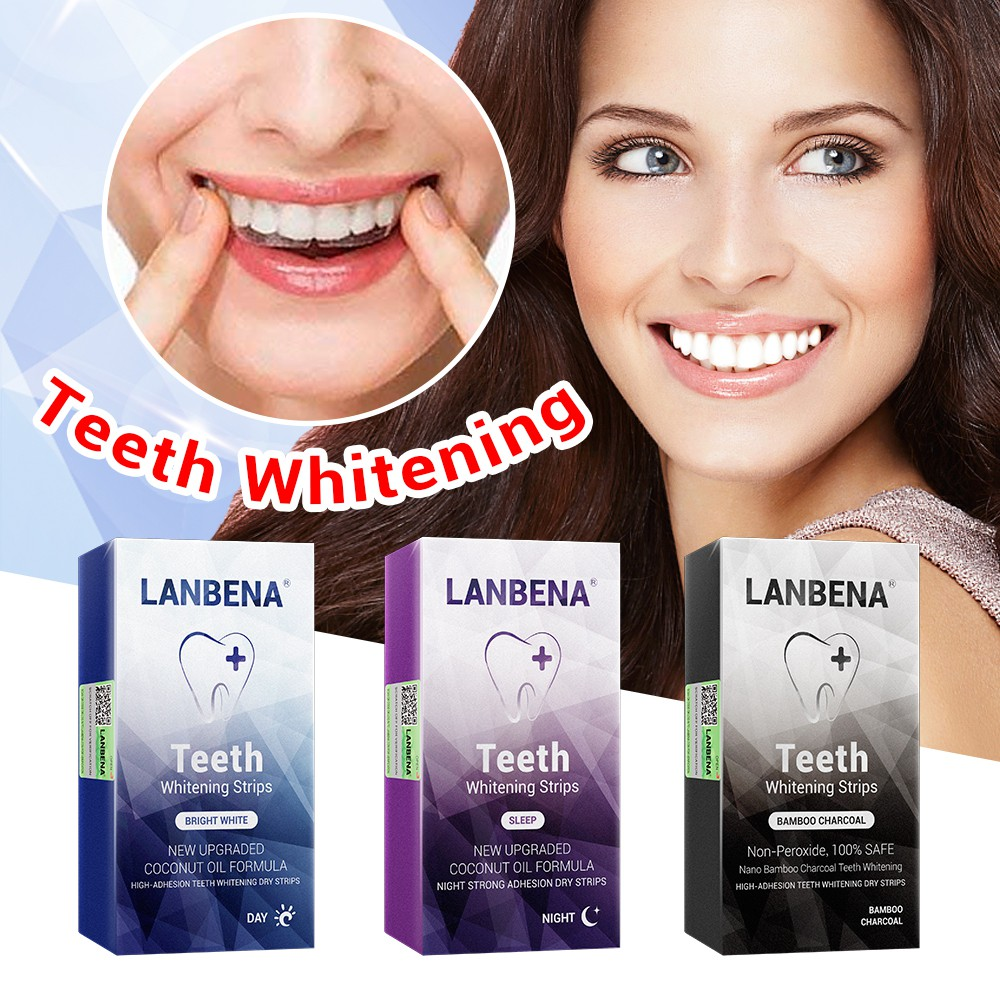 LANBENA Whitening toothpaste removes whitening strips from teeth and teeth