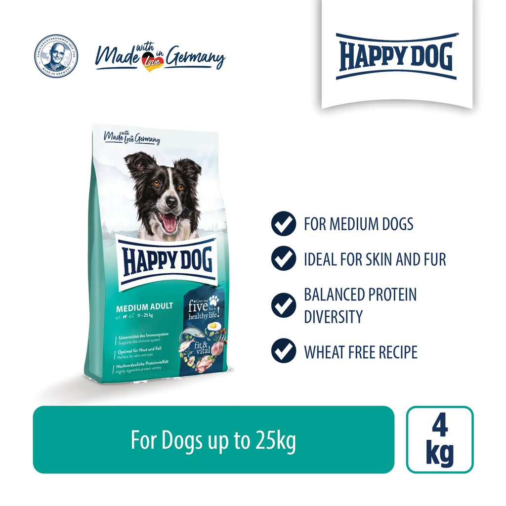 Happy Dog Supreme Fit & Vital - Medium Adult (4kg)
