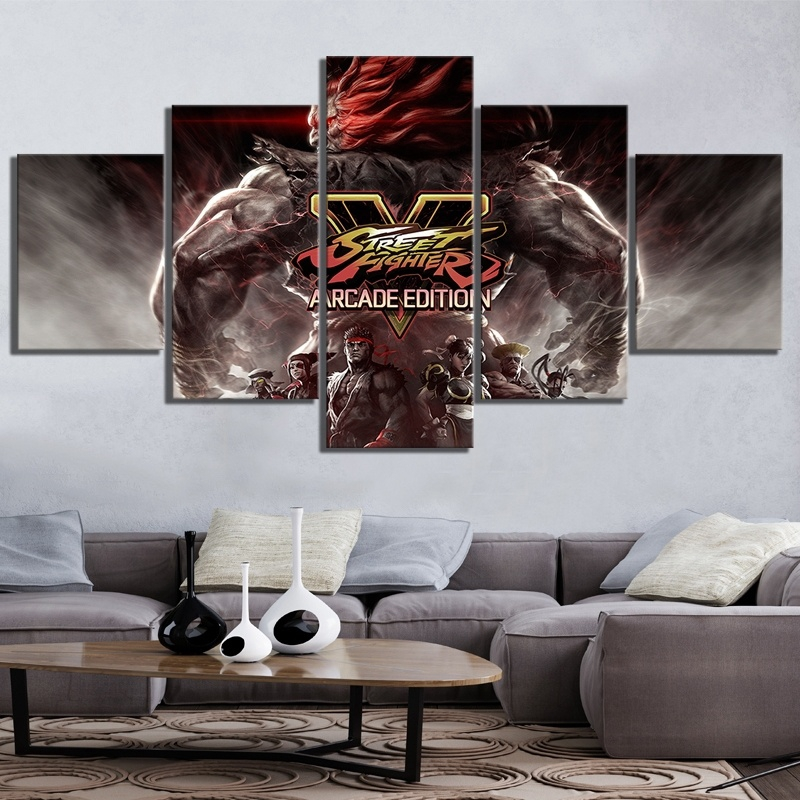 5 Pin Street Fighter V Arcade Edition Game Poster Artwork Canvas
