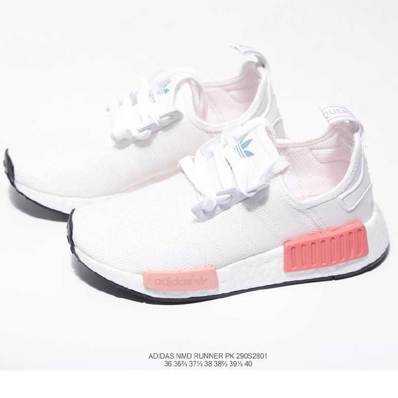 Adidas Nmd Runner competes with 290S3201 boost jogging shoes in white pink