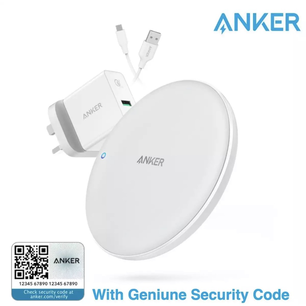 ANKER B2514 POWERWAVE 7 5 FAST WIRELESS CHARGER PAD WITH QC 3 0 CHARGER