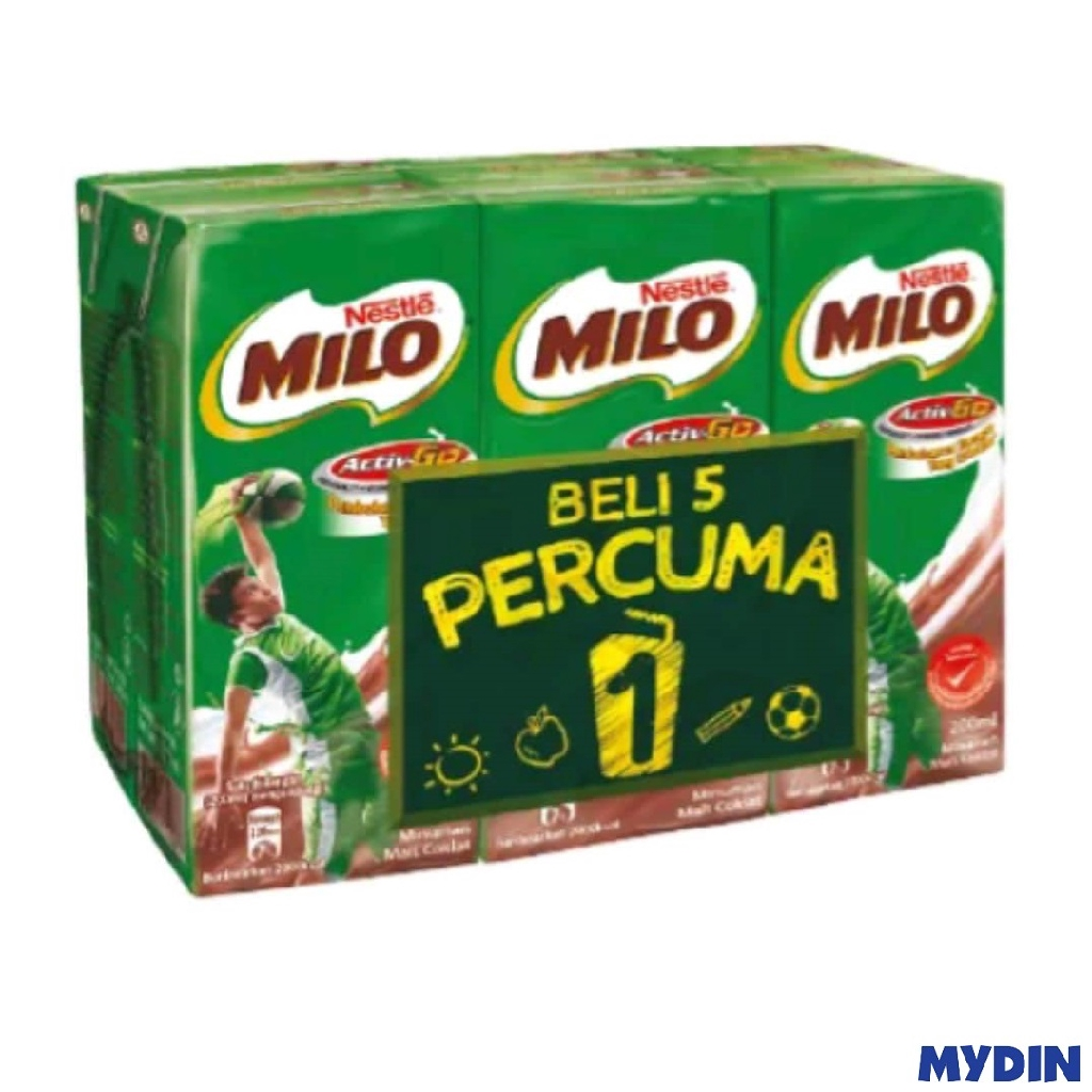 MILO UHT Activ-Go Drink (200ml x 6)