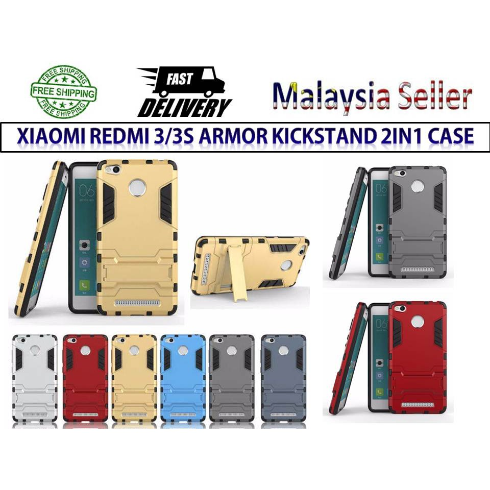 Redmi Note 4 4X Shockproof Armor Phone Case Cover Kickstand Casing   Shopee Malaysia