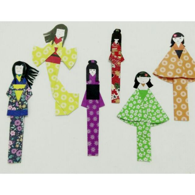 Origami Maniacs 112: Japanese Doll Bookmark - YouTube   640x640