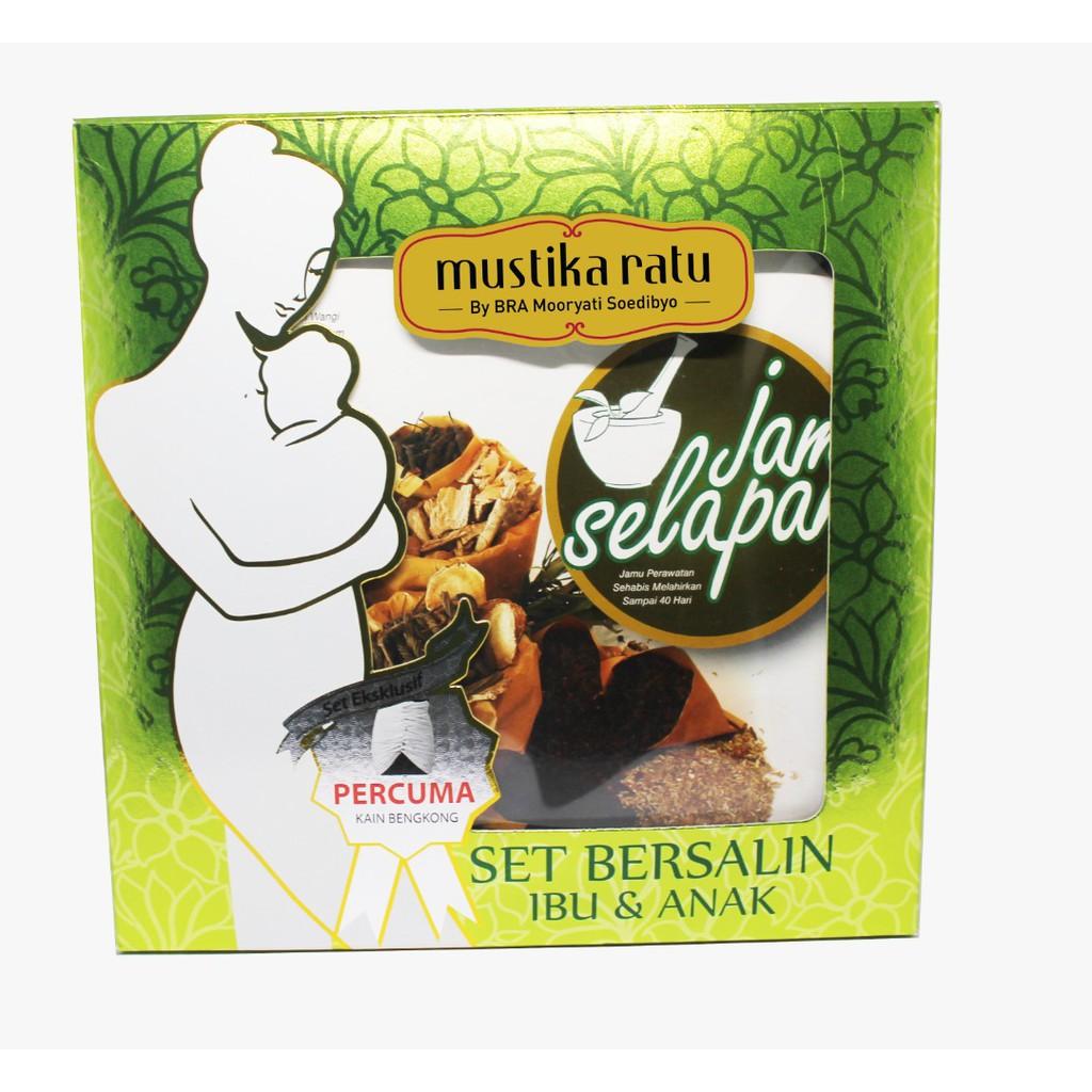 Mustika Ratu Jamu Selapan Set Post Natal Care + Bengkung + Minyak Telon + Rempah Harum Sari + FREE gift