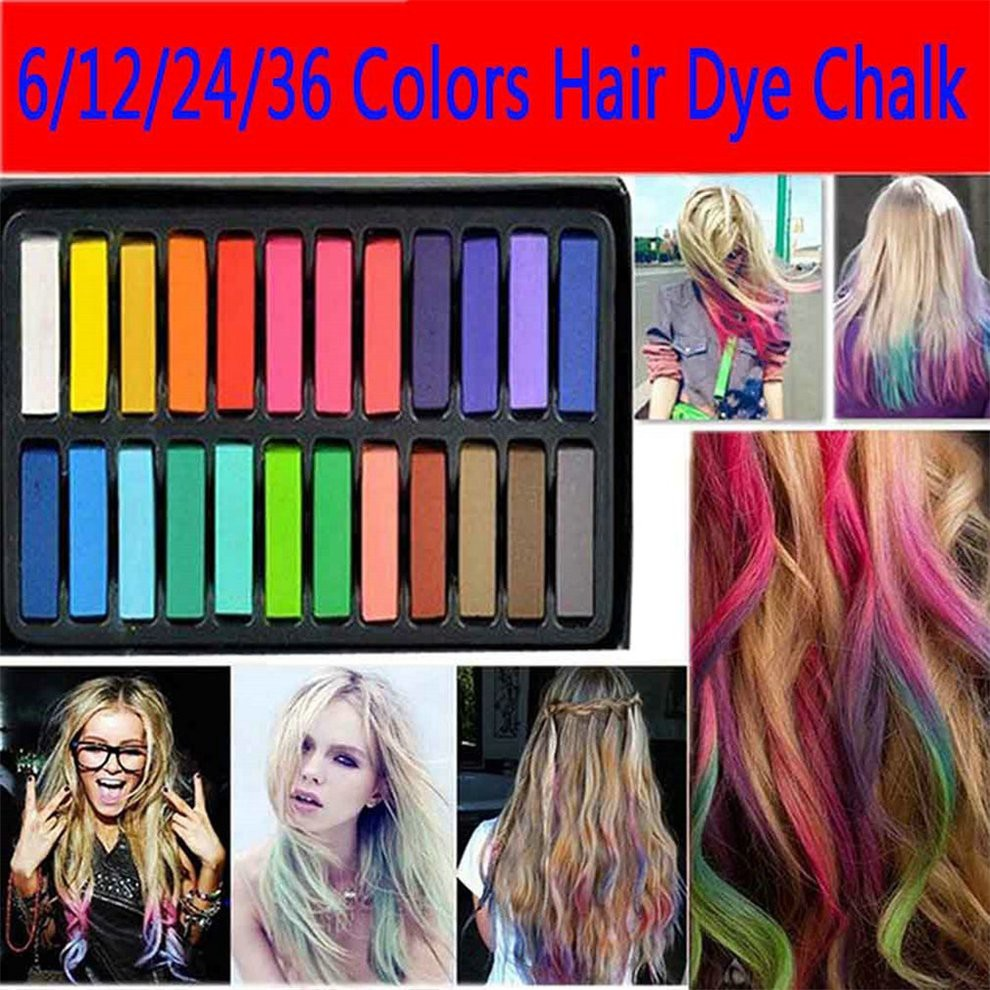 12 Colors Non-toxic Temporary Pastel Hair Square Hair Dye Color ...