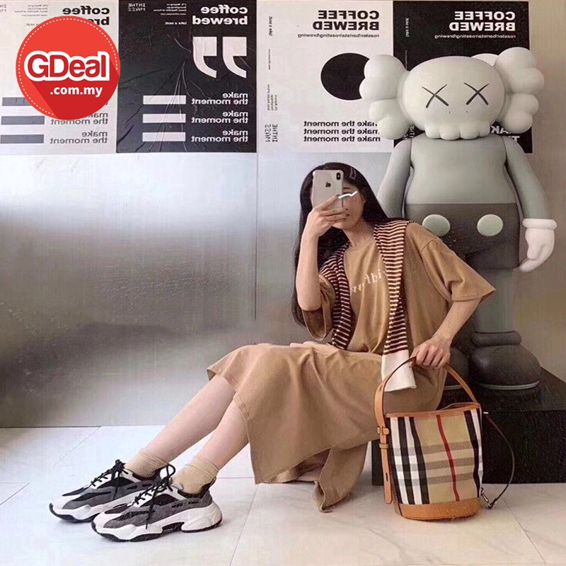 GDeal Classy Fashion Women Plaid Bucket Bag Hand Carry Shoulder And Cross Body Grid Handbag