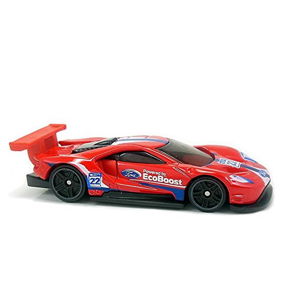 Hot Wheels 2016 Ford GT Race Red Legends of Speed 4/10 195/365 die-cast model