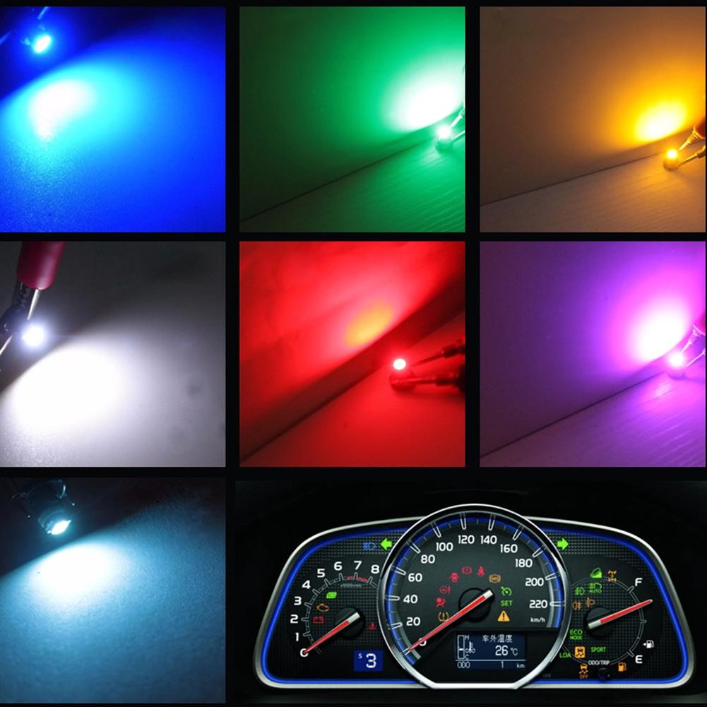 10Pcs T3 3528 Pink Universal Car Instrument Cluster Panel Lamps Gauge LED Bulbs Car & Truck LED Light Bulbs