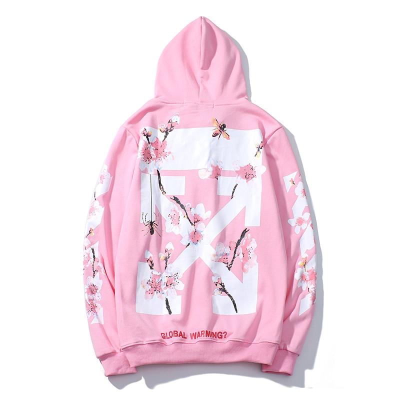 Off White Hoodie Loose Pullover Splashing ink sweater fashion Sweatshirt NEW