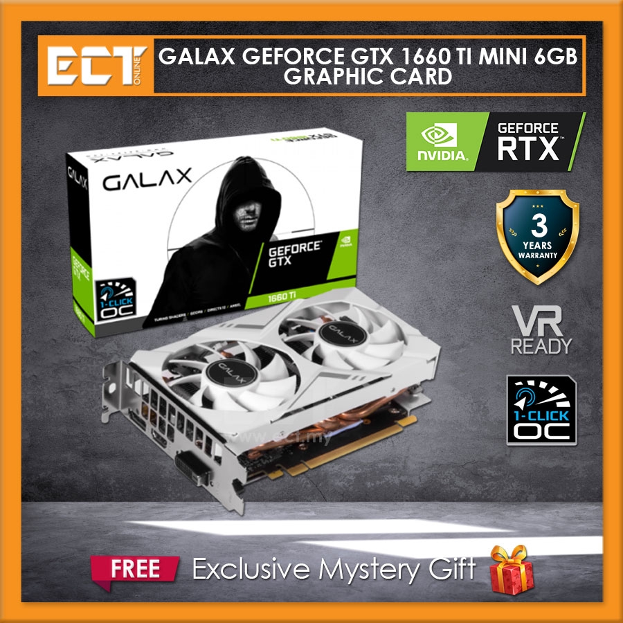 GALAX GeForce® GTX 1660 Ti White Mini (1-Click OC) 6GB Graphics Card