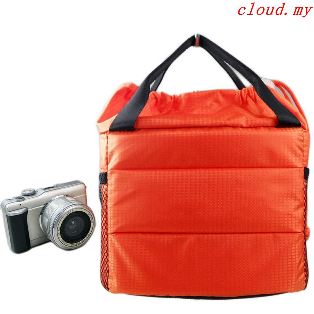 Waterproof Dslr Slr Camera Bag Padded Insert Partition Lens Bag Cover Pouch Case Bag Case Accessories
